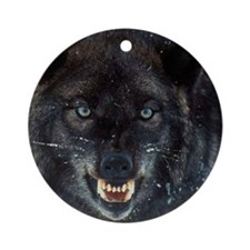 scary wolf Round Ornament