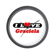 I Love Graciela Wall Clock