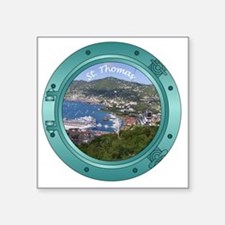 "St Thomas Porthole Square Sticker 3"" x 3"""