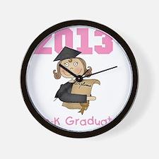 Girl 2013 Pre-K Graduate Wall Clock