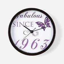 Fabulous Since 1963 Wall Clock