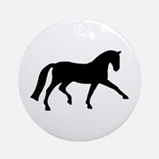 dressage extended trot Ornament (Round)