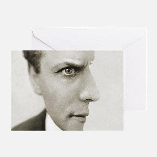 Houdini Optical Illusion Horizontal Greeting Card