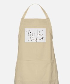 Kiss The Chef Chocolate Text Apron