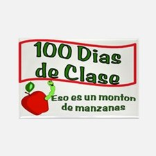 100 Days of Apples SPANISH Rectangle Magnet