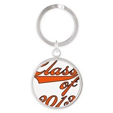 Orange Class of 2013 Round Keychain