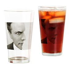 Houdini Optical Illusion Lefty Drinking Glass