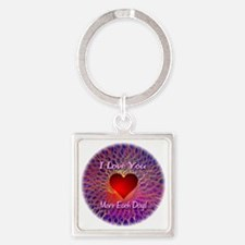 I Love You More Each Day Square Keychain