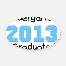 Blue Kindergarten Graduate 2013 Oval Car Magnet