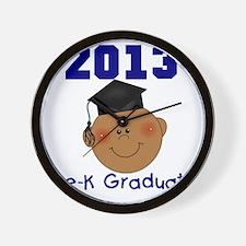 2013 African American Boy Pre-K Graduat Wall Clock