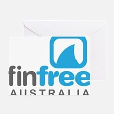 Fin Free Australia Greeting Card
