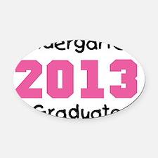 Pink Kindergarten Graduate 2013 Oval Car Magnet