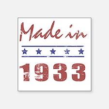 "Made In 1933 Square Sticker 3"" x 3"""
