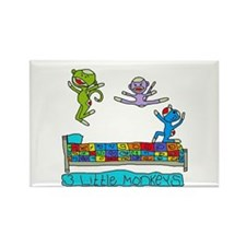 3 Little Monkeys Rectangle Magnet
