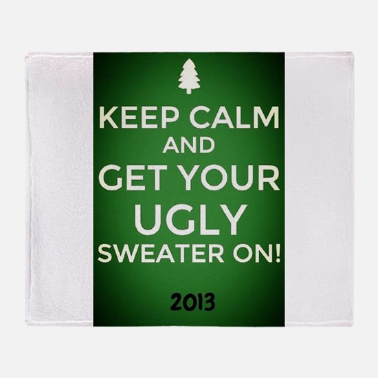 Ombre Green Keep Calm get your Ugly Sweater On! Th