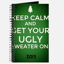 Ombre Green Keep Calm get your Ugly Sweater On! Jo