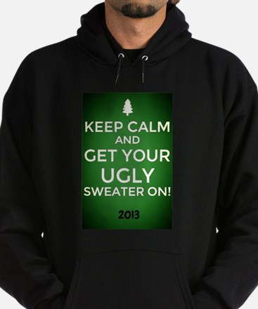Ombre Green Keep Calm get your Ugly Sweater On! Ho