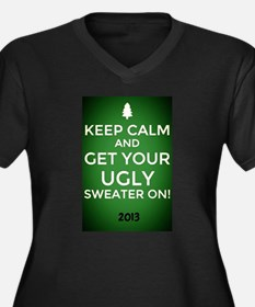Ombre Green Keep Calm get your Ugly Sweater On! Wo