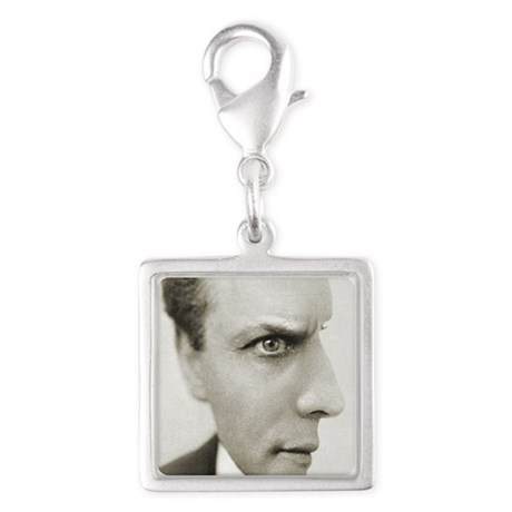 Houdini Optical Illusion Vert Silver Square Charm