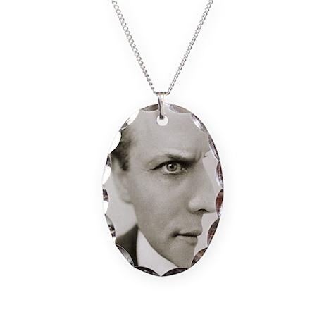 Houdini Optical Illusion Verti Necklace Oval Charm