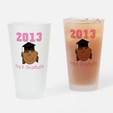 2013 African American Girl Pre-K Gr Drinking Glass