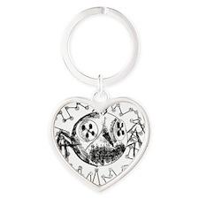 Coriline Pixelated Heart Keychain