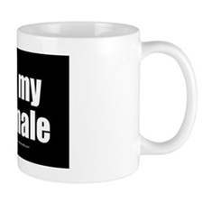 I Love My Shemale wallpeel Small Mug