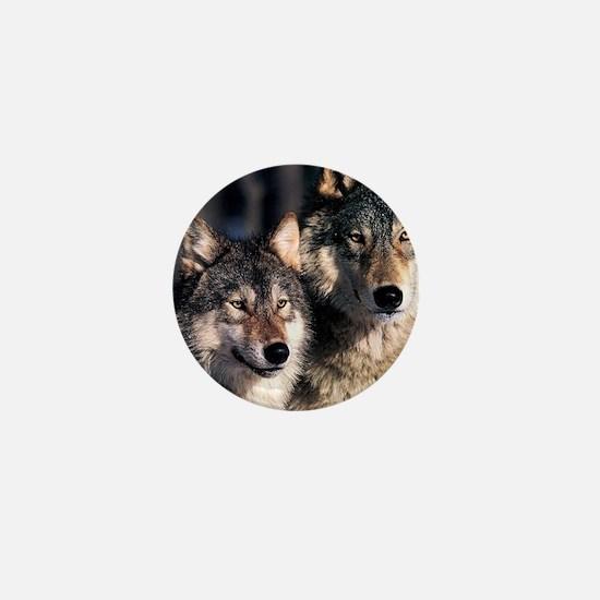 two wolf Mini Button