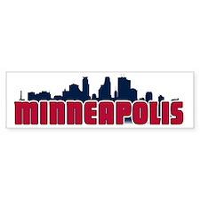 Minneapolis Skyline Bumper Sticker