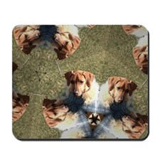 RR puppy in blue coat 2- Kaleidascope Mousepad