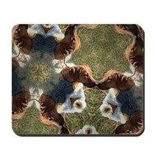 RR puppy in blue coat - Kaleidascope Mousepad