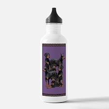 doberman area rug Water Bottle