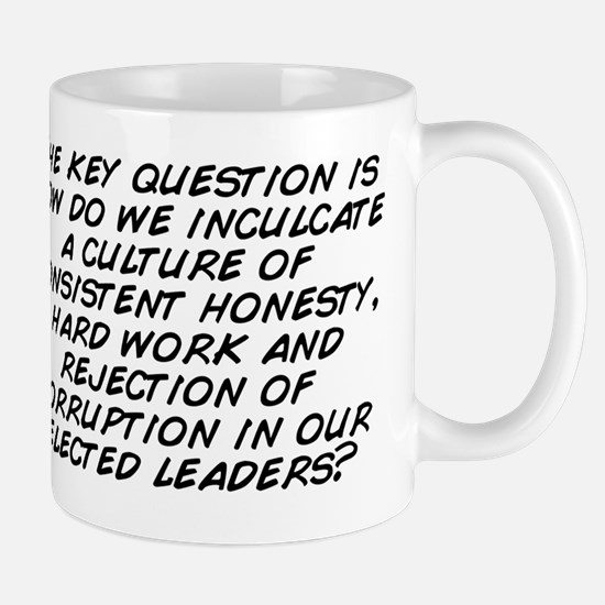The key question is how do we inculcate Mug