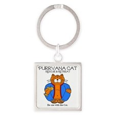 purrvana cat new Square Keychain