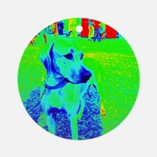 RR dog show 2 - thermal Round Ornament