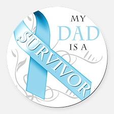 My Dad is a Survivor Round Car Magnet