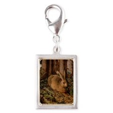 Rabbit In The Woods Silver Portrait Charm