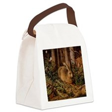 Rabbit In The Woods Canvas Lunch Bag