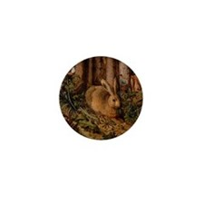 Rabbit In The Woods Mini Button