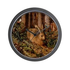 Rabbit In The Woods Wall Clock