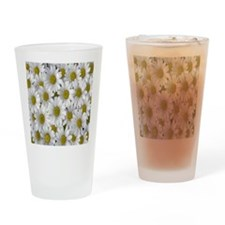 English Daisies Drinking Glass