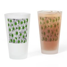 English Green Daisies Drinking Glass
