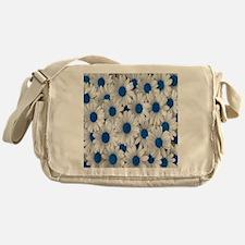 English Daisies Blue Messenger Bag