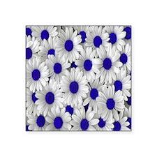 "English Daisies Purple Square Sticker 3"" x 3"""