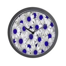 English Daisies Purple Wall Clock