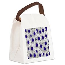English Daisies Purple Canvas Lunch Bag