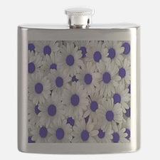 English Daisies Purple Flask