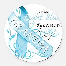 I Wear Light Blue Because I Love  Round Car Magnet