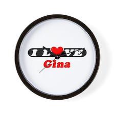 I Love Gina Wall Clock