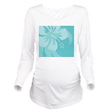 Aqua Mousepad Long Sleeve Maternity T-Shirt